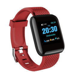 Sport Smart Watch Men Blood Pressure Waterproof Ip67 Smartwatch, Red, Red, [option2], [option3] - anythinganyware