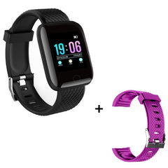 Sport Smart Watch Men Blood Pressure Waterproof Ip67 Smartwatch, black with purple, black with purple, [option2], [option3] - anythinganyware