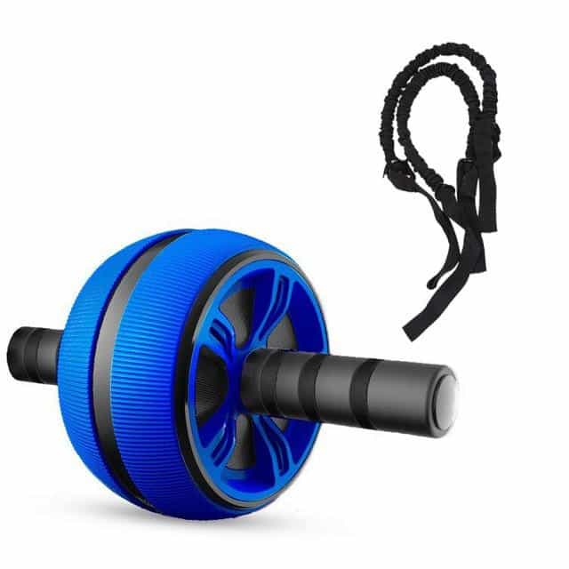 Silent TPR Abdominal Wheel Roller Trainer Fitness, Blue and Rope, Blue and Rope, [option2], [option3] - anythinganyware