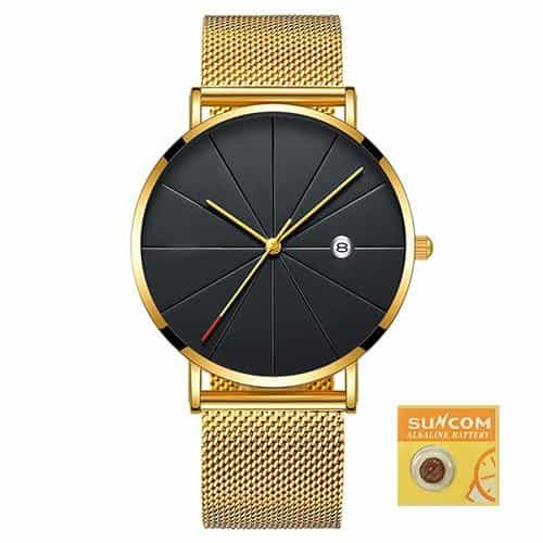 Casual Slim Mesh Steel Waterproof Sport Watch, Design 15, Design 15, [option2], [option3] - anythinganyware