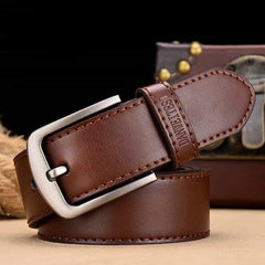 leather belt male male genuine leather strap, A NZ815 coffee / 130cm, A NZ815 coffee, 130cm, [option3] - anythinganyware