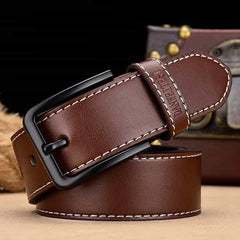 leather belt male male genuine leather strap, C NZ818 coffee / 110CM, C NZ818 coffee, 110CM, [option3] - anythinganyware