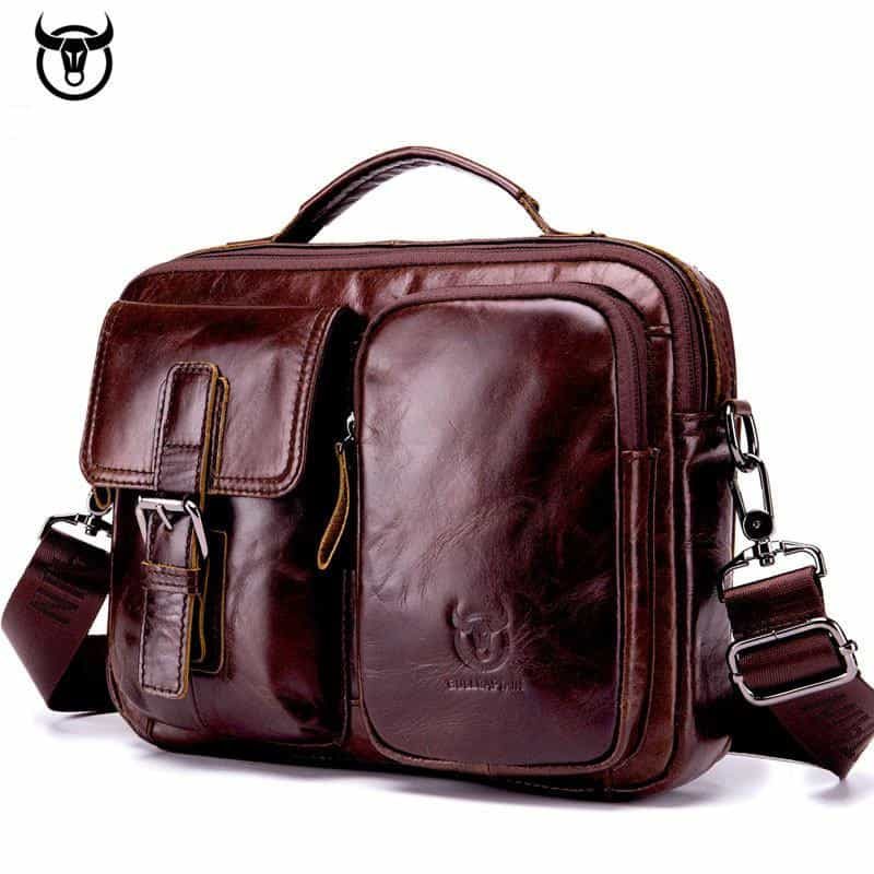 Briefcase Genuine Leather Messenger Laptop Bag, [variant_title], [option1], [option2], [option3] - anythinganyware