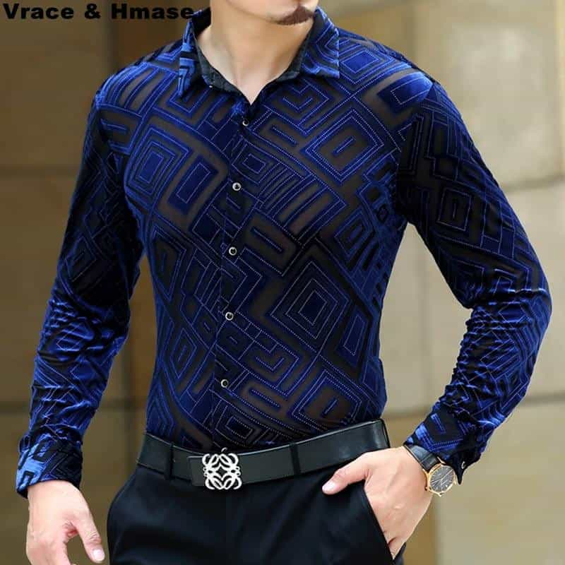 Diamond pattern silk soft quality men shirt, [variant_title], [option1], [option2], [option3] - anythinganyware