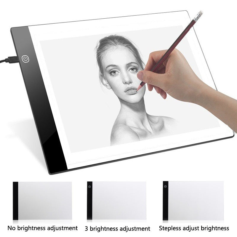 Digital Graphic Tablet A4  Writing Portable Electronic Tablet Pad, Three-level Dimming, Three-level Dimming, [option2], [option3] - anythinganyware