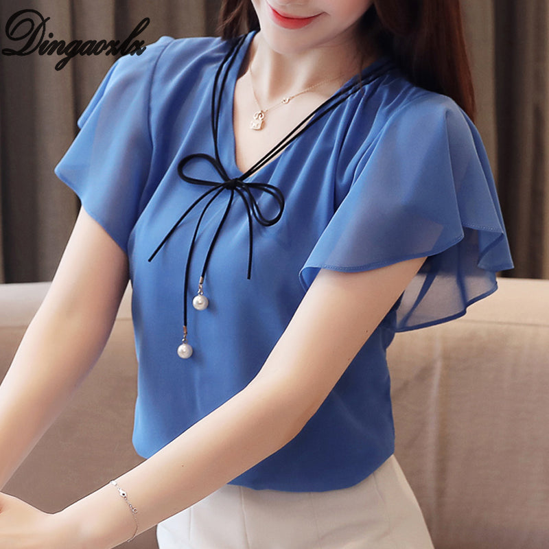 2019 New Fashion  Summer blouse, [variant_title], [option1], [option2], [option3] - anythinganyware