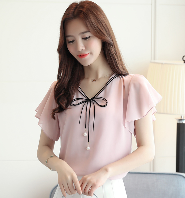 2019 New Fashion  Summer blouse, Pink / 4XL, Pink, 4XL, [option3] - anythinganyware