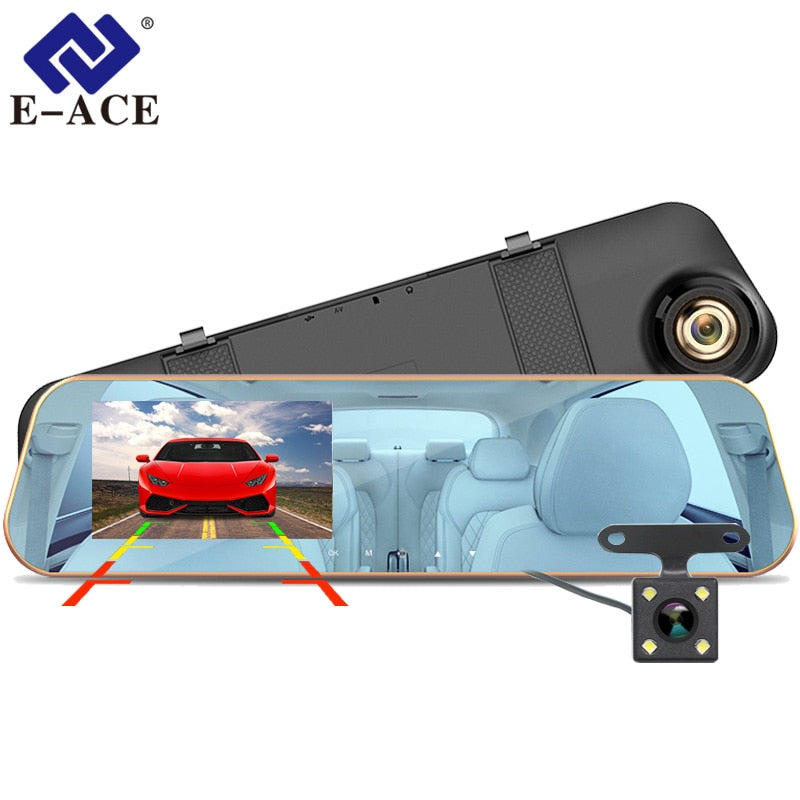 E-ACE Car Dvr Dash Camera 4.3 Inch Video Recorder, [variant_title], [option1], [option2], [option3] - anythinganyware
