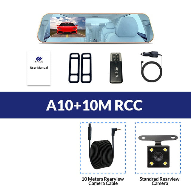 E-ACE Car Dvr Dash Camera 4.3 Inch Video Recorder, A10-10M RCC / China / With 32G TF Card, A10-10M RCC, China, With 32G TF Card - anythinganyware