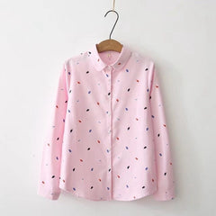 Shirts Women 2019 Spring New Women Long Sleeve Blouse, Pink / XL, Pink, XL, [option3] - anythinganyware