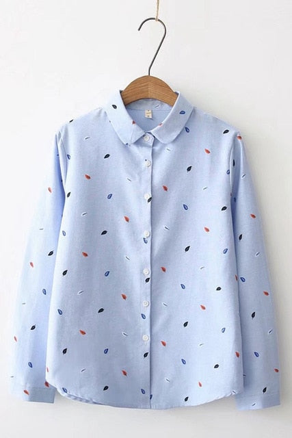 Shirts Women 2019 Spring New Women Long Sleeve Blouse, Blue / XXL, Blue, XXL, [option3] - anythinganyware