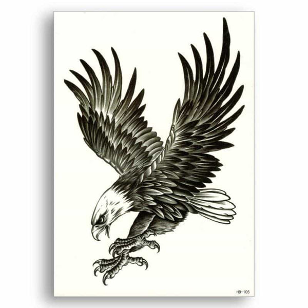 Eagle Fake tattoo Sticker, [variant_title], [option1], [option2], [option3] - anythinganyware