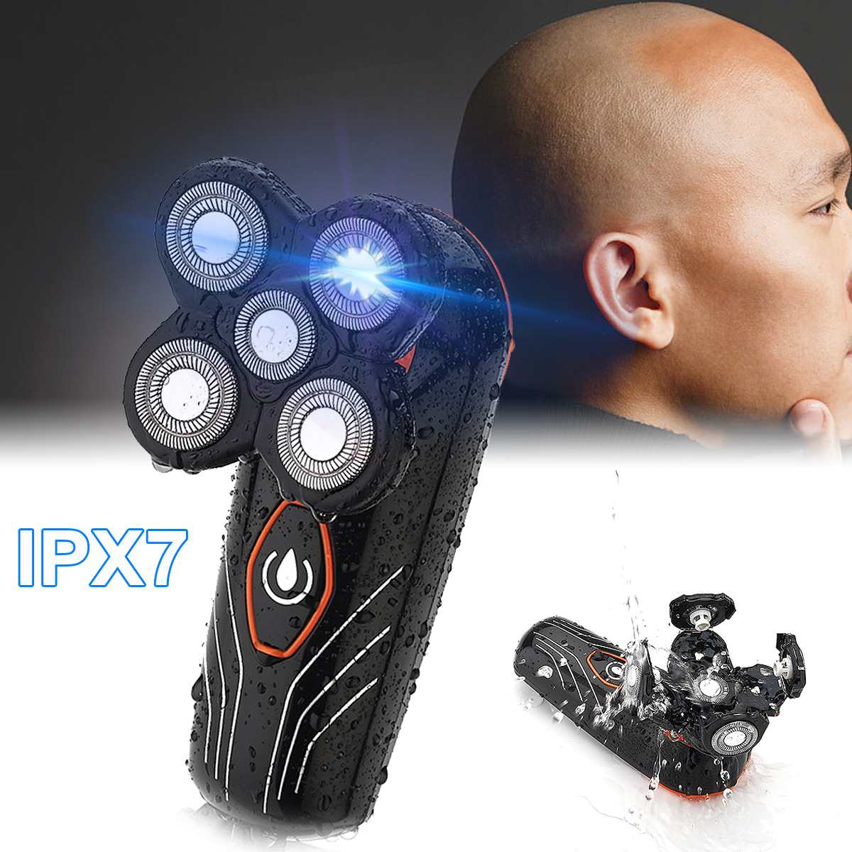 Electric Shaver 5 Heads Floating Blade Razor, [variant_title], [option1], [option2], [option3] - anythinganyware