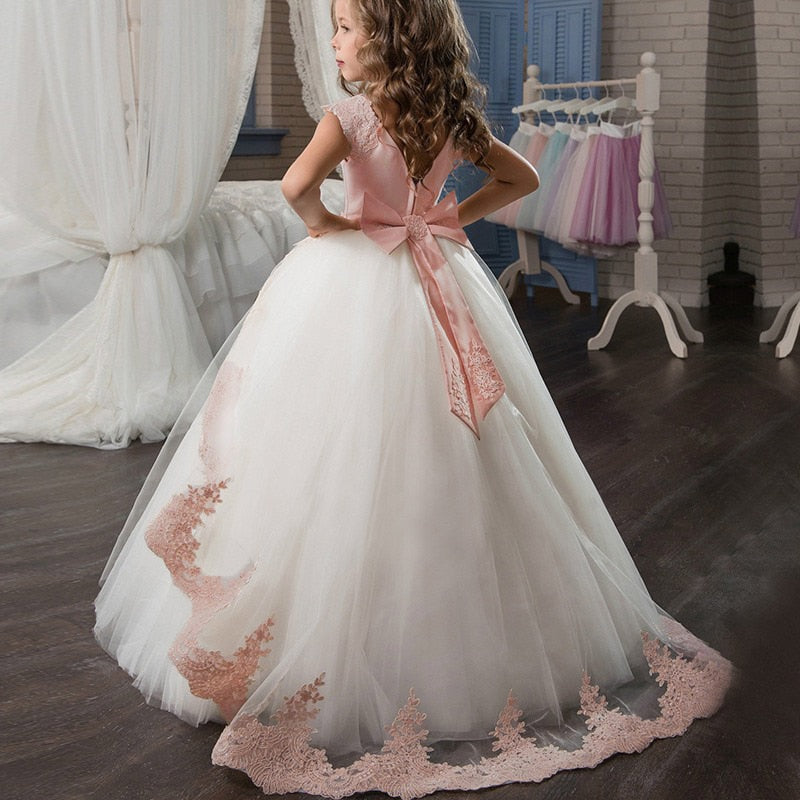 Elegant Princess Dress Children Girls Evening Party Dress, [variant_title], [option1], [option2], [option3] - anythinganyware