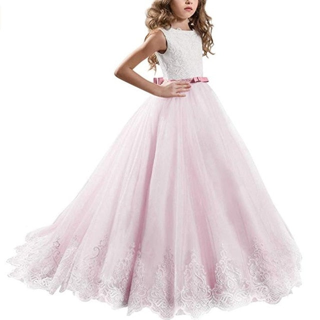 Elegant Princess Dress Children Girls Evening Party Dress, Pink20 / 1121, Pink20, 1121, [option3] - anythinganyware