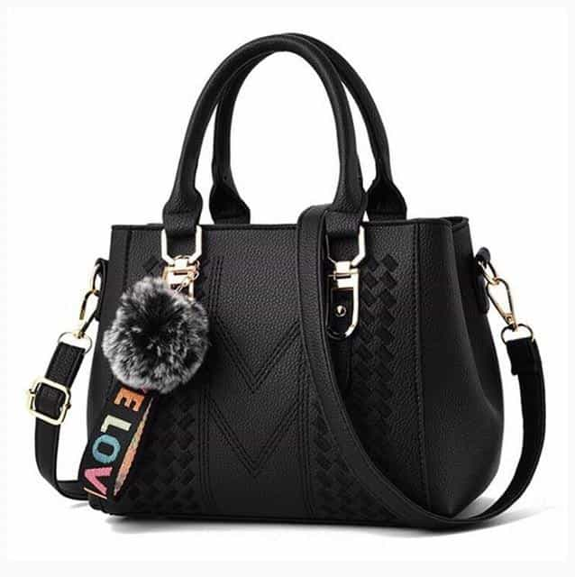 Embroidery Messenger Bags Women Leather Handbags, Black / 23X14X19cm, Black, 23X14X19cm, [option3] - anythinganyware