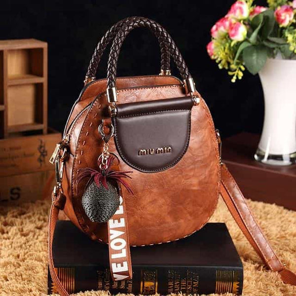 European American fashion messenger bag, Caramel color, Caramel color, [option2], [option3] - anythinganyware