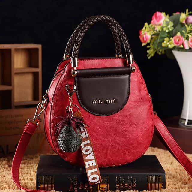 European American fashion messenger bag, red, red, [option2], [option3] - anythinganyware