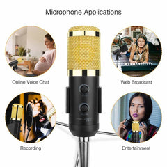 USB Condenser Microphone for Computer/Laptop/PC Recording, [variant_title], [option1], [option2], [option3] - anythinganyware