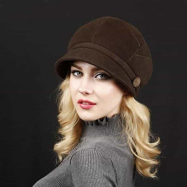 Fashion Fall Winter Retro Women's Fedora Caps, 1, 1, [option2], [option3] - anythinganyware