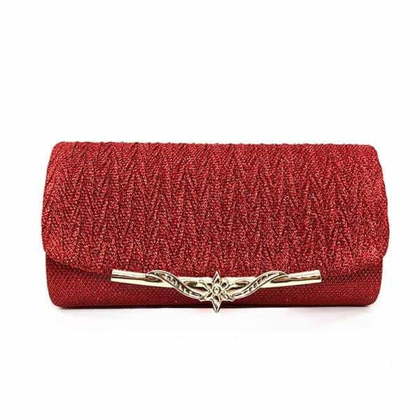 Evening Bag Brand Party Banquet Glitter Bag, Red, Red, [option2], [option3] - anythinganyware