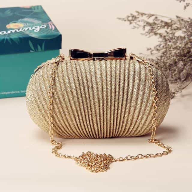 Fashion Women Ruched Clutch Evening Bag, Gold Small, Gold Small, [option2], [option3] - anythinganyware