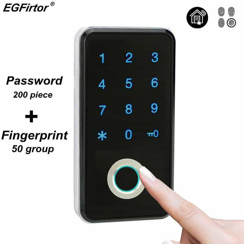 Fingerprint Password Combination Smart Lock, [variant_title], [option1], [option2], [option3] - anythinganyware