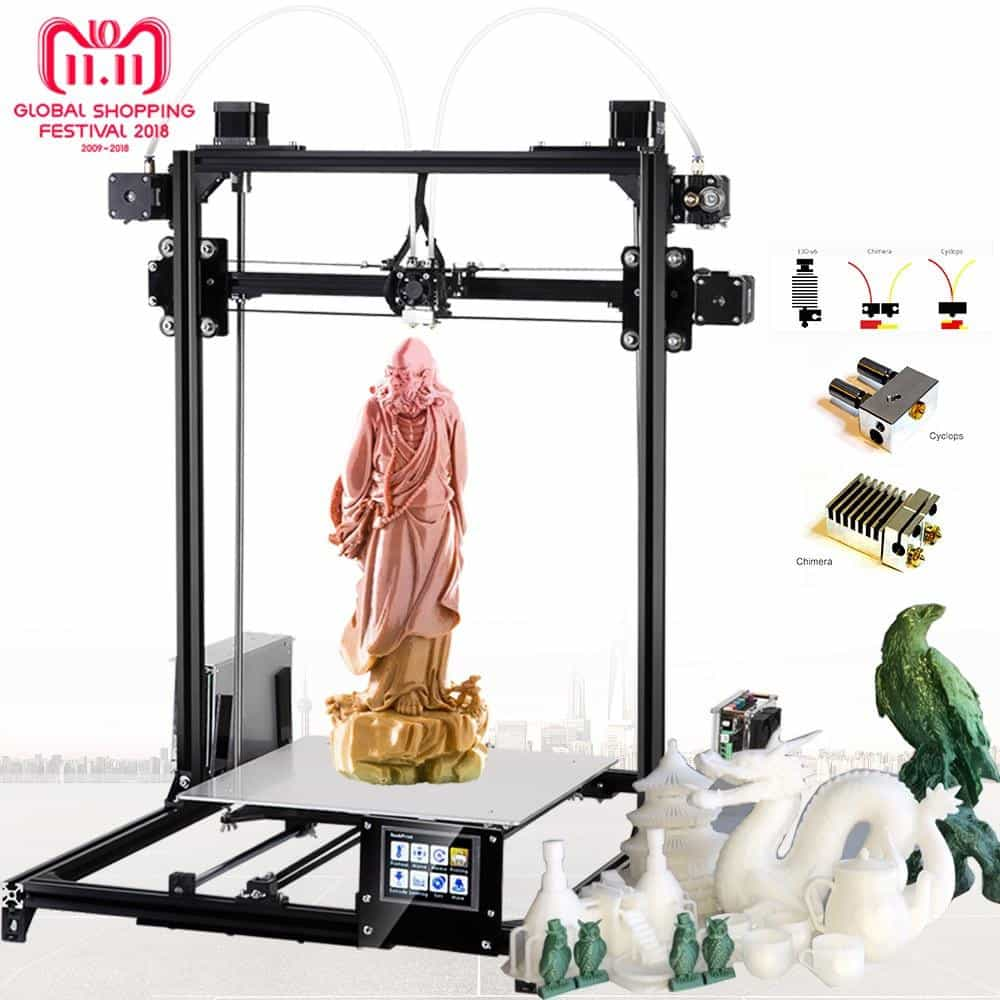 Flsun Large size 3d Printer 300x300x420mm Auto Level Touch Screen, China / Plus Touch Dual, China, Plus Touch Dual, [option3] - anythinganyware