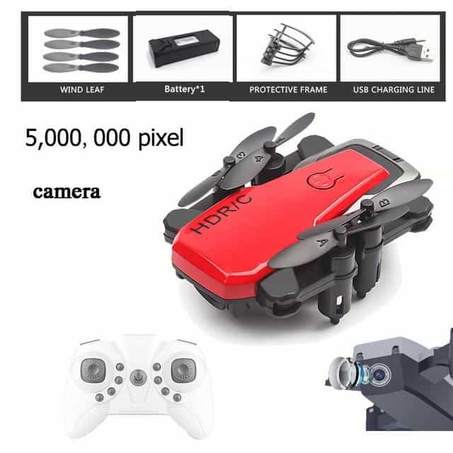 Foldable Mini Drone With RC Quadrocopter With Camera, Red500WCamera, Red500WCamera, [option2], [option3] - anythinganyware