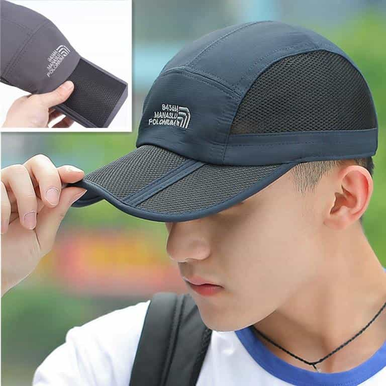Folding Baseball Mesh Waterproof Quick-dry High-quality Unisex  Cap, [variant_title], [option1], [option2], [option3] - anythinganyware