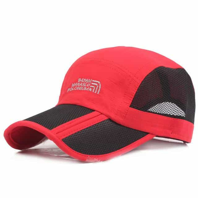 Folding Baseball Mesh Waterproof Quick-dry High-quality Unisex  Cap, Red, Red, [option2], [option3] - anythinganyware