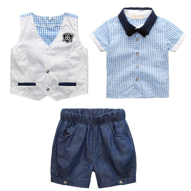 Gentleman Suit Kids Dresses For Boy, Sky Blue / 5T, Sky Blue, 5T, [option3] - anythinganyware