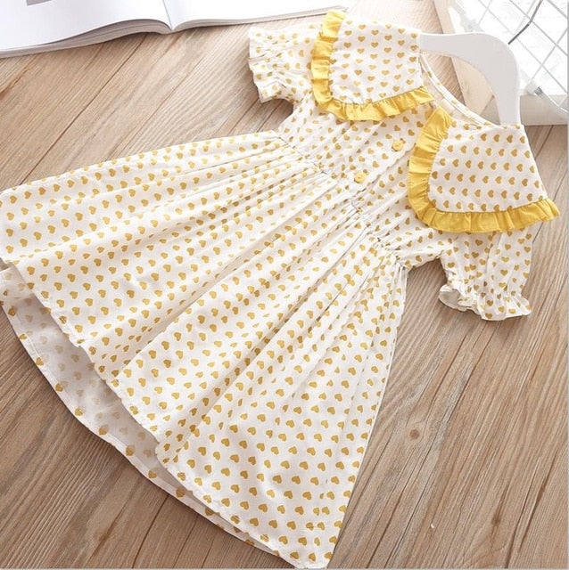 Girls Dress Summer Christmas Dresses For Kids, yellow color / 6T, yellow color, 6T, [option3] - anythinganyware