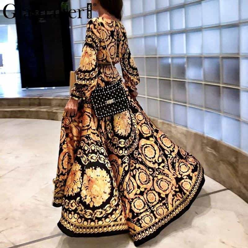 maxi dress long sleeve paisley party club dress, [variant_title], [option1], [option2], [option3] - anythinganyware