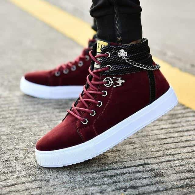 High Quality Men Vulcanized shoes, Wine Red / 11, Wine Red, 11, [option3] - anythinganyware