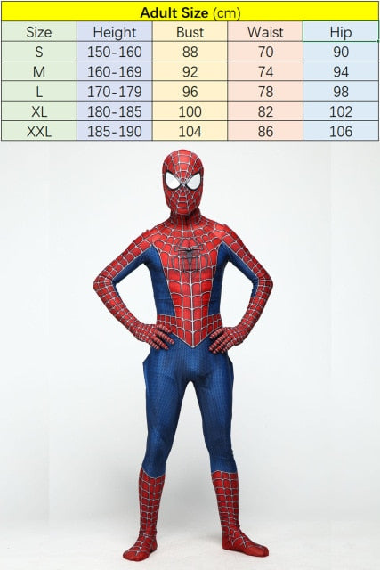 High Quality Spider Man Spiderman Costume, Adult Size / XXL / Spider-Man, Adult Size, XXL, Spider-Man - anythinganyware