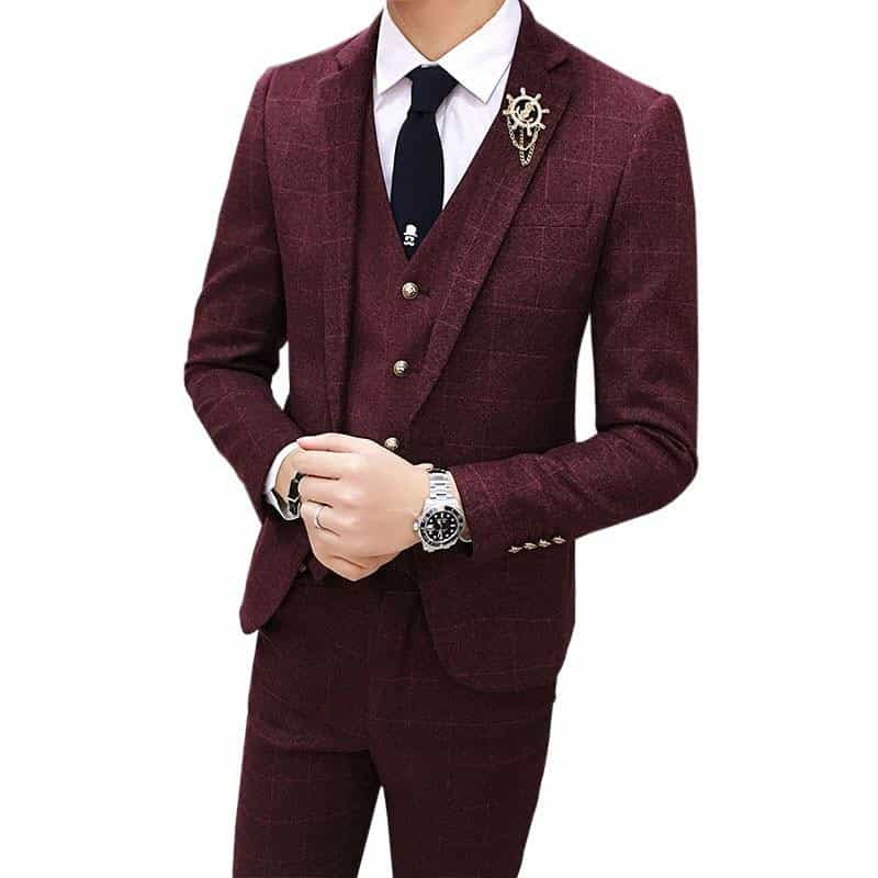 Slim Fit Men Suit Jacket & Vest & Pant, [variant_title], [option1], [option2], [option3] - anythinganyware