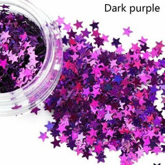 Holographic Sequins Eye Face Body Glitter Multicolor, Dark purple, Dark purple, [option2], [option3] - anythinganyware