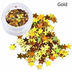 Holographic Sequins Eye Face Body Glitter Multicolor, Gold, Gold, [option2], [option3] - anythinganyware