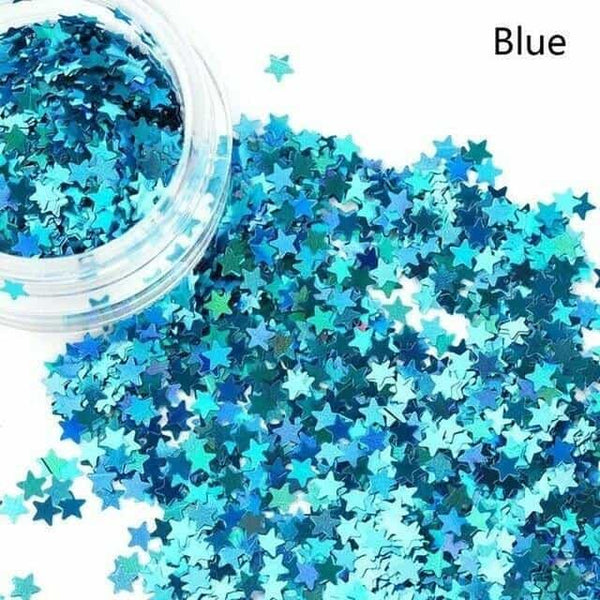 Holographic Sequins Eye Face Body Glitter Multicolor, Blue, Blue, [option2], [option3] - anythinganyware