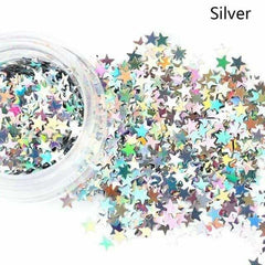 Holographic Sequins Eye Face Body Glitter Multicolor, Silver, Silver, [option2], [option3] - anythinganyware