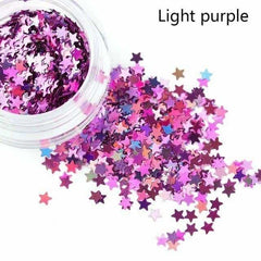 Holographic Sequins Eye Face Body Glitter Multicolor, Light Purple, Light Purple, [option2], [option3] - anythinganyware