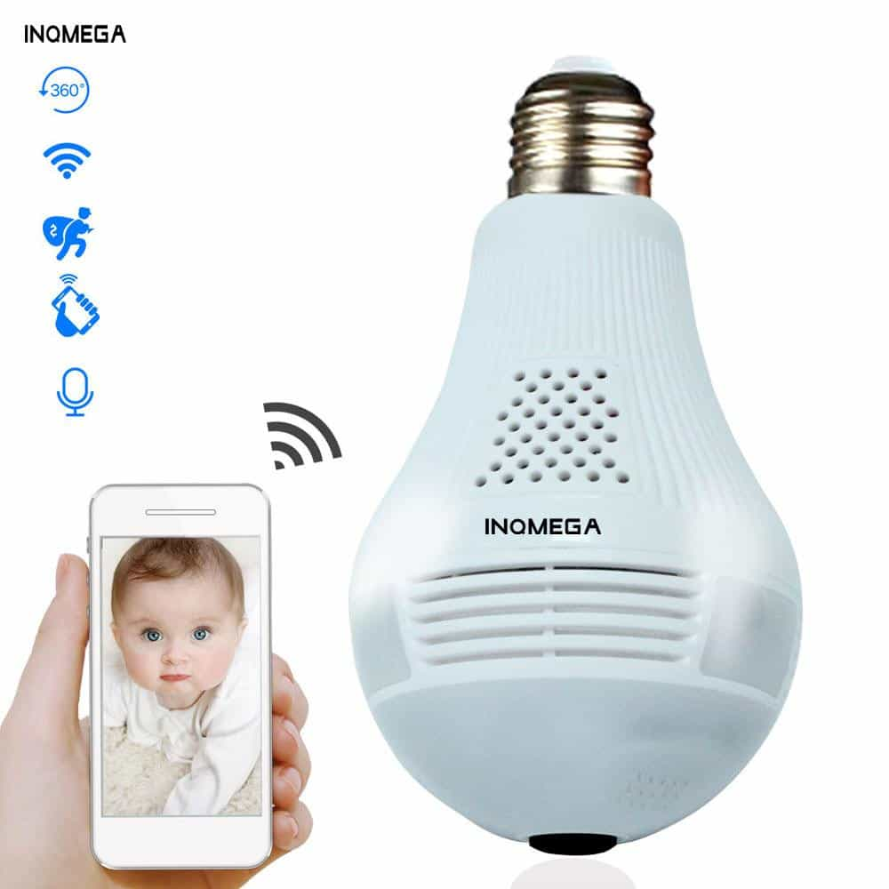 360 Degree LED Light 960P Wireless, Cam with 16GB card, Cam with 16GB card, [option2], [option3] - anythinganyware