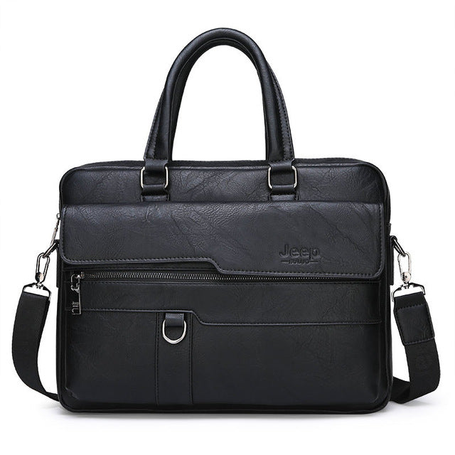 JEEP BULUO Men Briefcase Bag, 8301-3 Black / China, 8301-3 Black, China, [option3] - anythinganyware
