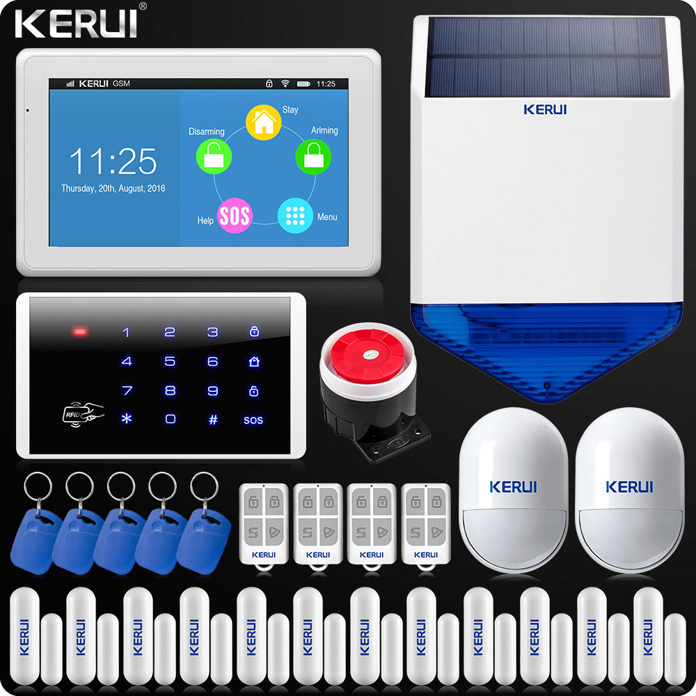 Color Display WIFI GSM Alarm System Home Alarm Security, [variant_title], [option1], [option2], [option3] - anythinganyware