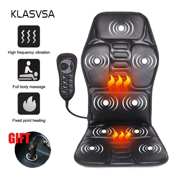 Electric Portable Heating Vibrating Back Massager Chair In Cussion, China / UK Plug, China, UK Plug, [option3] - anythinganyware