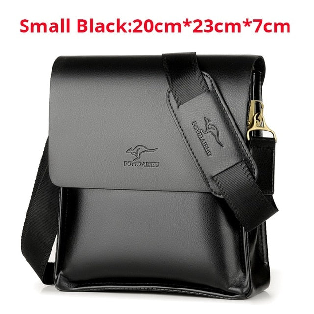 Luxury Brand Leather Men Bag Casual Business Messenger Bag, Small Black, Small Black, [option2], [option3] - anythinganyware