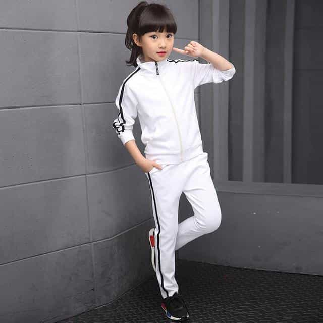 Kids Clothes Set Spring Autumn Girls Boys, White / 16T, White, 16T, [option3] - anythinganyware