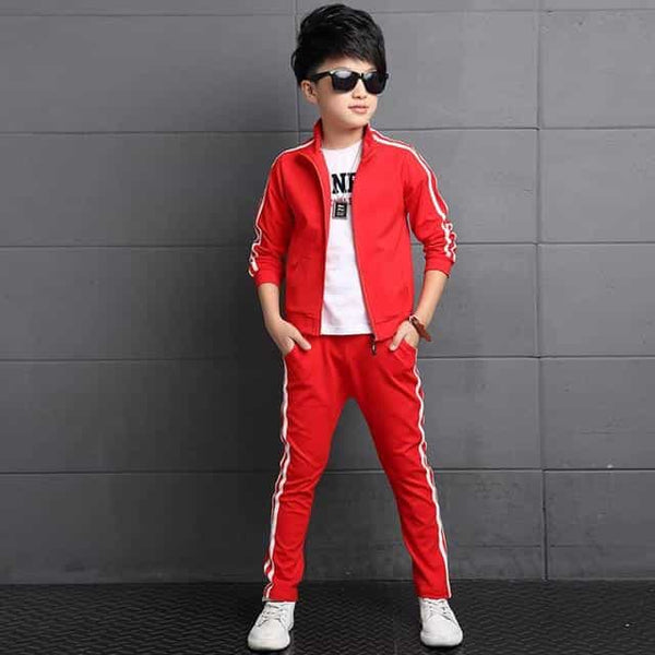Kids Clothes Set Spring Autumn Girls Boys, Red / 11T, Red, 11T, [option3] - anythinganyware