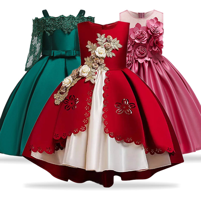 Kids Dresses For Girls Elegant Princess Dress, [variant_title], [option1], [option2], [option3] - anythinganyware